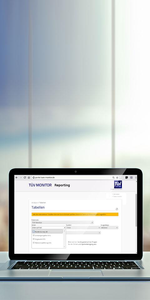 Beobachtung eingehender Kundenmeinungen in einem ausführlichen Auswertungs-Dashboard